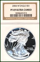 2004-W NGC PF69 Ultra Cameo Silver Eagle