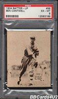 1934 Batter-Up #96 BEN CANTWELL PSA 6 EX-MT Low Pop 1/5! Braves