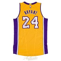 6ce09cc0718 Kobe Bryant Autographed Authentic Adidas Gold Lakers Jersey with Black  Mamba Inscription ~Limited Edition to