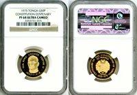 1975 GOLD TONGA 50 PA'ANGA NGC PROOF 68 ULTRA CAMEO ONLY 105 MINTED