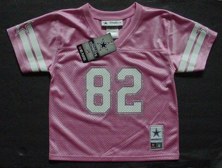 competitive price 86601 19a78 NWT Jason Witten 82 Dallas Cowboy MESH Jersey Toddler Pink Glitter Sz 2T 3T  4T