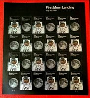 US 2019, Space Moon Landing,Forever 24 stamps 55¢ sheet,Sc 5399-00,VF MNH**