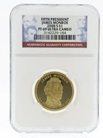 2008-S Presidential Dollar / 5th President-James Monroe / Graded PF 69 UC by NGC