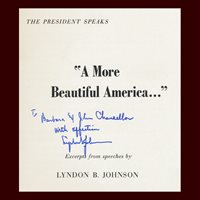 Lyndon B. Johnson, A More Beautiful America, Signed