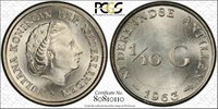Netherlands Antilles 1/10 Gulden 1963 MS66 PCGS silver KM#3 Blast White Gem
