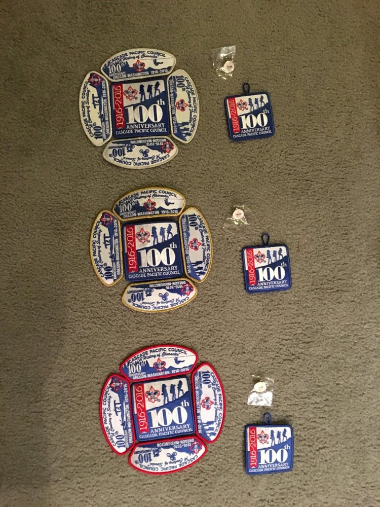 Cascade Pacific Council 100th Anniversary CSP SMY Border Set with extras!