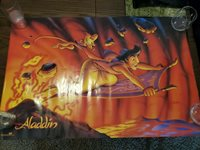 RARE ALADDIN Movie POSTER 90s 20x16 OSP Publishing Walt DISNEY Vintage 1992 VTG