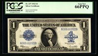 1923 $1 SILVER CERTIFICATE BANKNOTE #237 GEM UNCIRCULATED PCGS CERTIFIED CU66PPQ