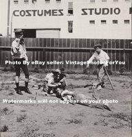 1923 Prohibition Era Sandlot Baseball Team Young Boys Playing Baseball Photo