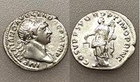 AC#CH-P Ancient Roman Trajan AR Denarius Silver Coin 103-111 AD 3g 18mm