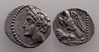 AC#NO CILICIA Uncertain 4th century BC. Obol Silver Coin 11 mm 0.73 g RareI