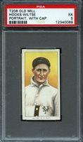 1909-11 T206 OLD MILL HOOKS WILTSE PORTRAIT WITH CAP PSA 5 EX