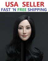 Cat Toys CT016A 1:6 Asian Female short brown hair Head Carving F 12/'/' Figure