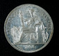Indochina Indochine 1906 Piastre KM 5a.1. High grade, lustrous coin AU