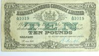 10 Pounds 1933 Northern Ireland The Belfast Banking Company Limited