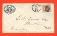 US #186 6c Lincoln Assembly Chamber Albany NY New York Postal History Cover