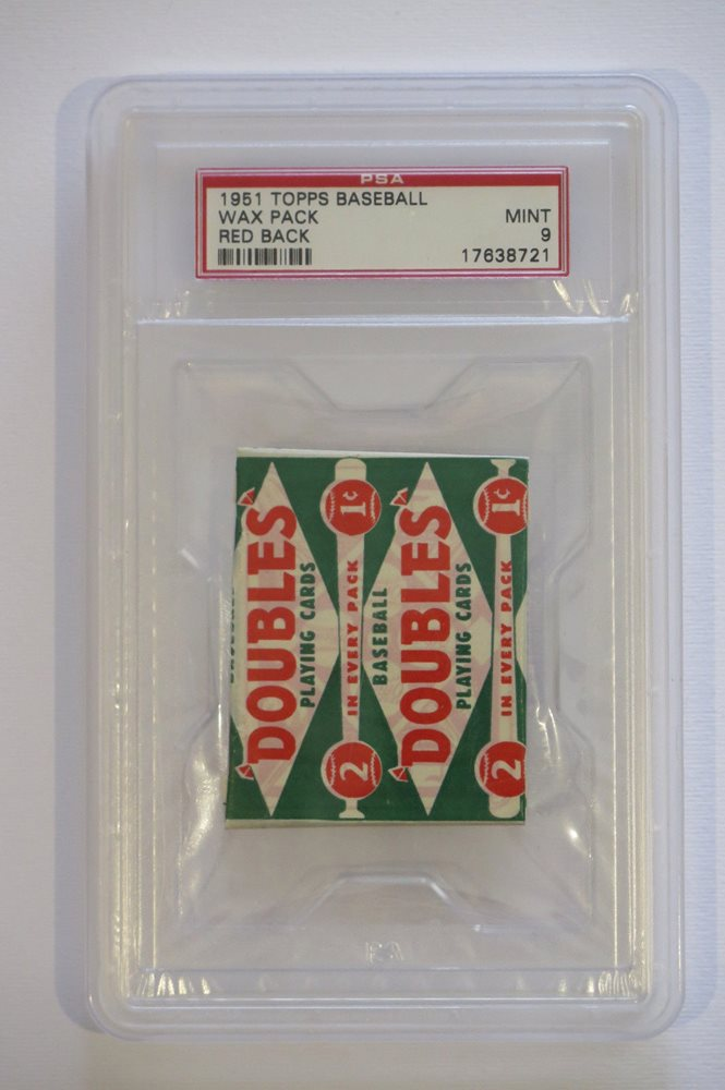 1951 Topps Baseball Card Unopened Wax Pack Red Back 1 C