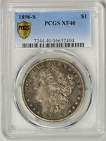 1896-S PCGS XF40 * Key Date Morgan Dollar * #16652404
