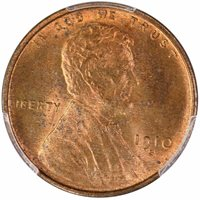 1910-S 1C Lincoln Cent PCGS MS64+RB CAC