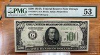 $500 1934A Fr. 2202-G PMG AU53