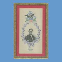 Abraham Lincoln, Inaugural Commemorative Textile