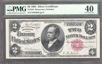 FR.#245 1891 $2 SILVER CERTIFICATE PMG EXTREMELY FINE 40.