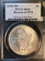 1878 P 7TF Rev 78 PCGS MS62 VAM 84A Super CD Morgan Silver Dollar