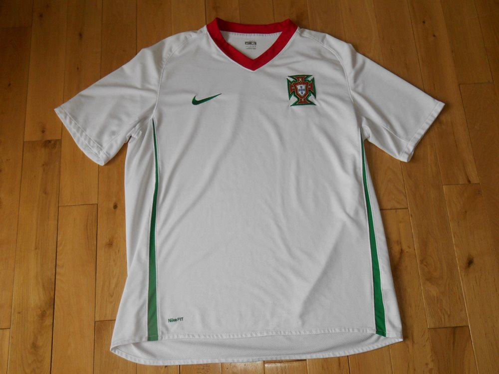 huge selection of 78ee1 ae9c4 NIKE Dri Fit White PORTUGAL National Team 08-09 Soccer Kit Jersey Mens XL  Futbol