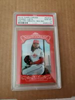 Johnny Cueto 2015 Topps Chrome Red Refractor gallery of the greats 3/5 PSA 10