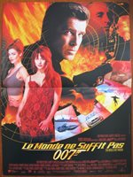 THE WORLD IS NOT ENOUGH (1999) Original French Movie Poster James Bond 007