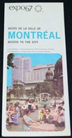 EXPO 67 MONTREAL CANADA WORLDS FAIR ACCESS TO THE CITY ROAD MAP 1967