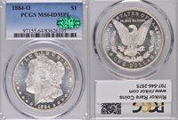 1884-O MS64 DMPL PCGS & CAC $1