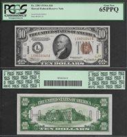 SM HAWAII $10.00 FRN 1934A PCGS 65 GEM UNC. PPQ