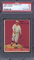 1934 World Wide Gum #7 Red Lucas PSA 5 Pittsburgh Pirates