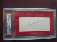 Buster Narum '64-'67 Senators In Memory Of PSA/DNA certified autograph d.2004