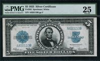 1923 $5 Silver Certificate - Lincoln Porthole - FR.282 - PMG 25 - Very Fine