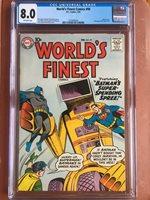 World's Finest 99 CGC 8.0 OW Batman Superman SWEET Rare