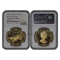 Cayman Islands 1985 Royal Land Grant $250 Gold NGC PF68 ULTRA CAMEO SKU# 6733
