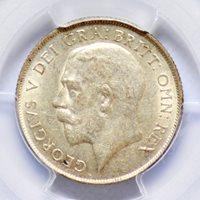 SHILLING 1921 GREAT BRITAIN, PCGS AU55
