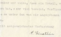 Albert Einstein Signed Letter on Freud | Raab Collection