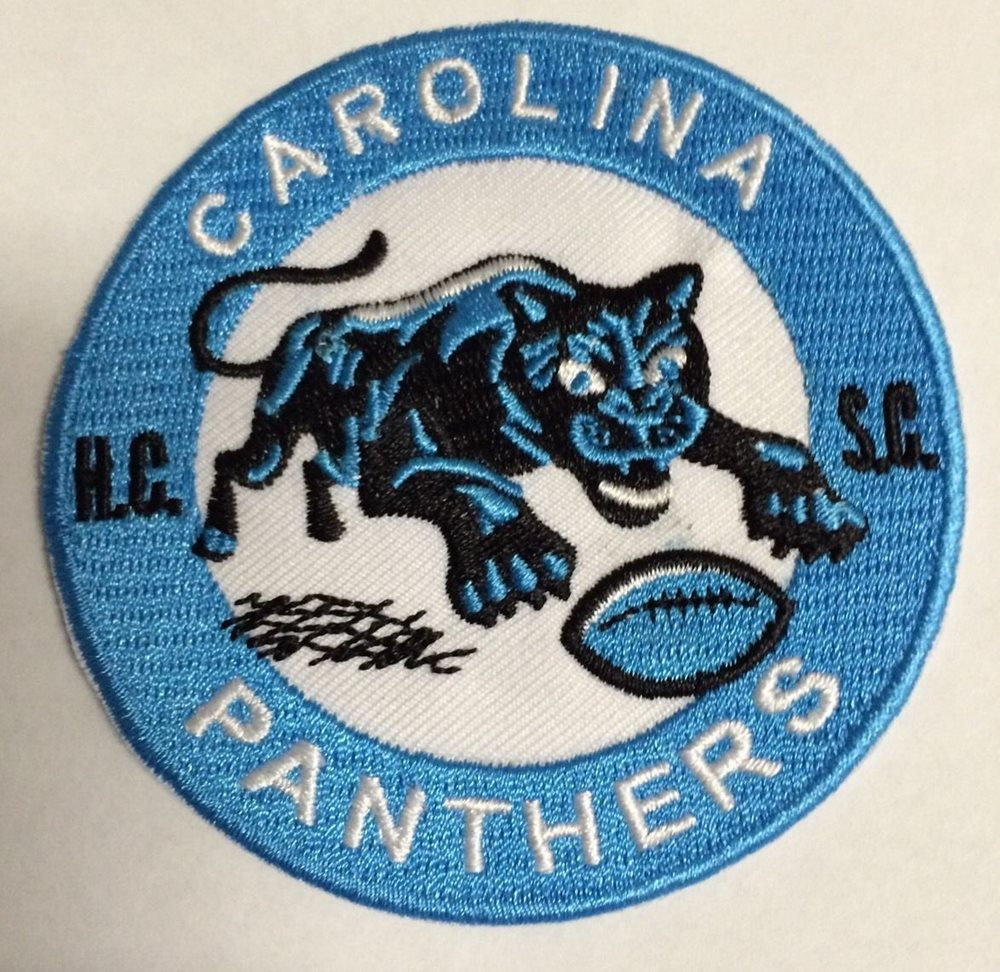 quality design 969e7 4bfda Carolina Panthers vintage embroidered iron on logo patch 3