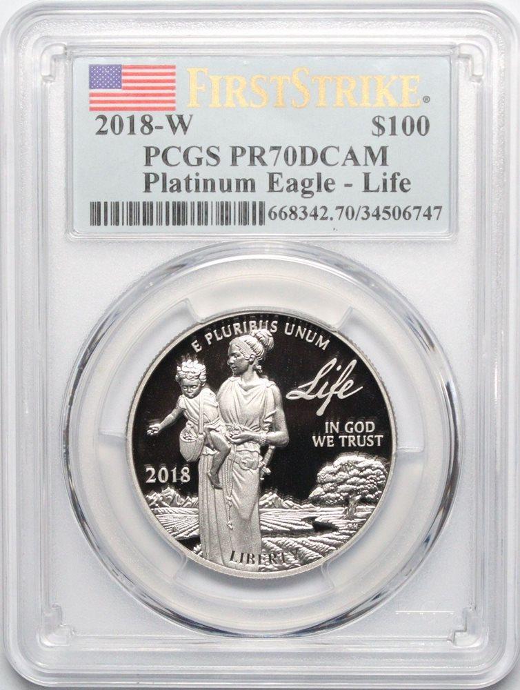 2018-W 1 oz Proof Platinum American Eagle PCGS PF 69 FS Life