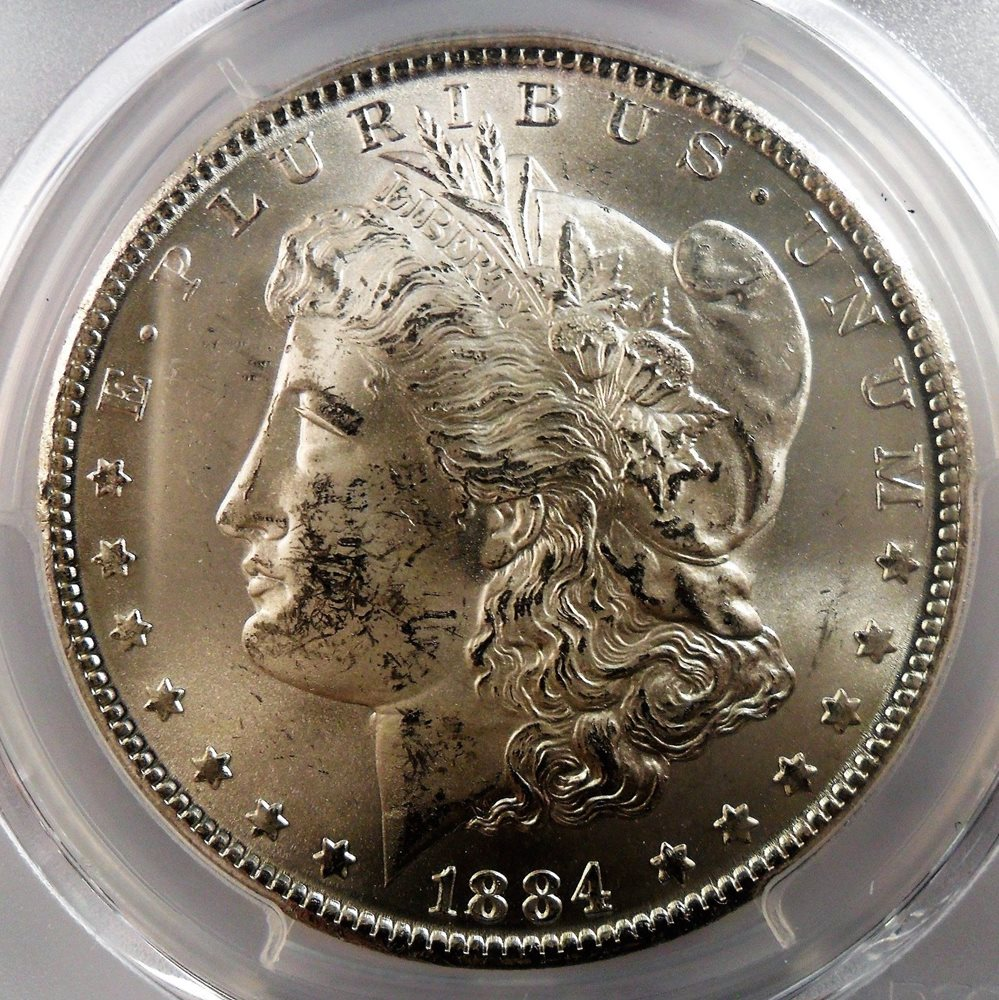 1884 Cc Morgan Silver Dollar Pcgs Ms63 4307 Enn Coins