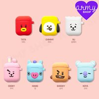 half off 093b6 6d6cd BTS BT21 New Official MD Goods Cube Silicone AirPod Case Keyring +tracking  防彈少年團