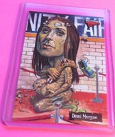 2007 HOLLYWOOD ZOMBIES DEMI MOORE HORROR TRADING CARD