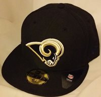 NWT NEW ERA ST LOUIS RAMS los angeles la 59FIFTY fitted football cap hat nfl
