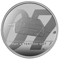 2020 Great Britain £5 James Bond 007 Pay Attention 2 oz Silver Coin - 2,007 Made