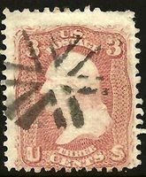 US 1860s Civil War Era Fancy Cancel: Array of Six CARETs ~ Skinner-Eno #SP-C 13