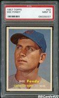 1957 Topps #42 DEE FONDY PSA 9 MINT NONE higher! Cubs