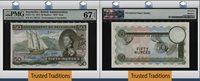 50 Rupees 1973 Seychelles Queen Elizabeth Ii Sex Note Pmg 67 Epq